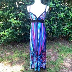 Catch My I colorful maxi summer dress - Medium
